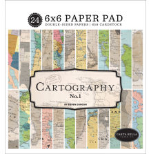 Carta Bella 6x6 Paper Pad - Cartography No1