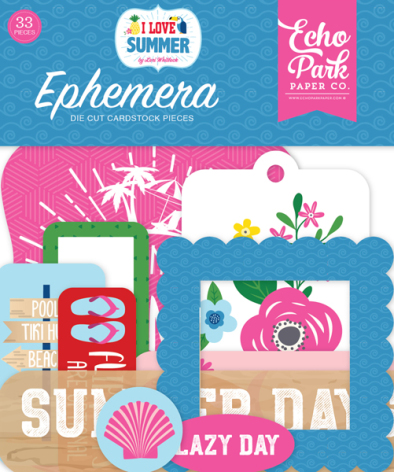 Echo Park I Love Summer Cardstock Die-Cuts - Ephemera
