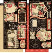 Graphic 45 Cardstock Die-Cuts 6X12 - Love Notes UTGÅENDE