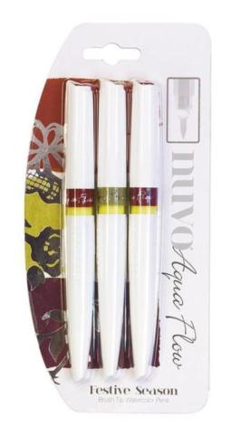 Tonic Studios Nuvo Aqua Flow Pens 3/Pkg – Festive Season 895N