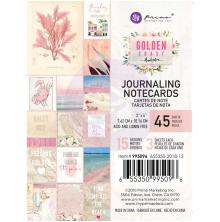 Prima Journaling Card 3X4 45/Pkg - Golden Coast