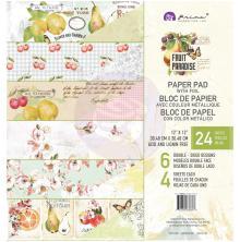 Prima Double-Sided Paper Pad 12X12 24/Pkg - Fruit Paradise