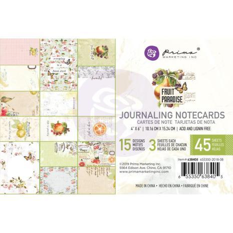 Prima Journaling Card 4X6 45/Pkg - Fruit Paradise
