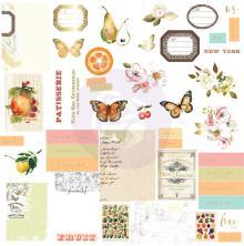 Prima Cardstock Ephemera 44/Pkg - Fruit Paradise