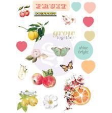 Prima Puffy Stickers 21/Pkg - Fruit Paradise