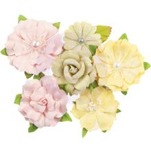 Prima Fruit Paradise Mulberry Paper Flowers 6/Pkg - Citrus Twist