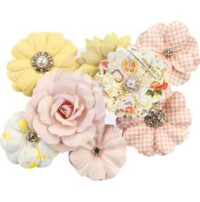 Prima Fruit Paradise Mulberry Paper Flowers 8/Pkg - Juicy Grapefruit