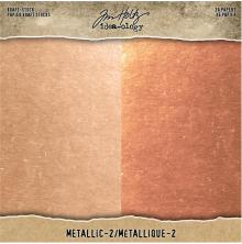 Tim Holtz Idea-Ology Kraft Metallic Paper Pad 8X8 36/Pkg - Metallic 2