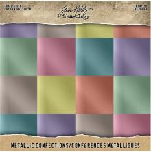 Tim Holtz Idea-Ology Kraft Metallic Paper Pad 8X8 36/Pkg - Confections