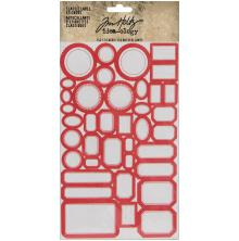 Tim Holtz Idea-Ology Classic Label Stickers 152/Pkg - Red/White