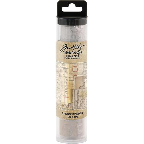 Tim Holtz Idea-Ology Collage Paper 6X6yds - Typography
