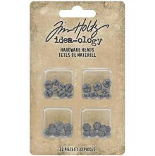 Tim Holtz Idea-Ology Metal Hardware Heads 32/Pkg - Flatback