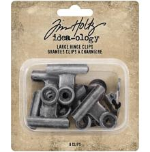 Tim Holtz Idea-Ology Metal Hinge Clip Large 8/Pkg