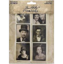 Tim Holtz Idea-Ology Photobooth Vintage Photo Strips 40/Pkg