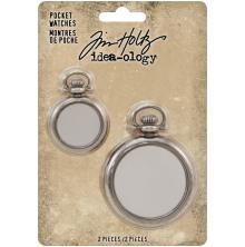 Tim Holtz Idea-Ology Pocket Watches 2/Pkg