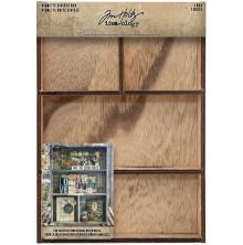 Tim Holtz Idea-Ology Vignette Divided Box 7X10 - 4 Compartment