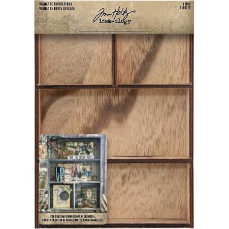 Tim Holtz Idea-Ology Vignette Divided Box 7X10 - 4 Compartment