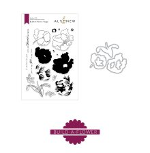 Altenew Clear Stamp And Die Build A flower - Poppy
