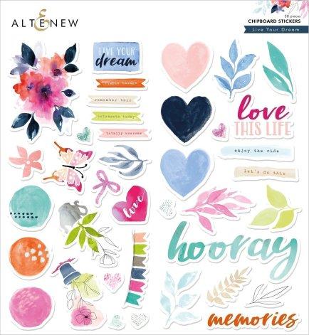 Altenew Chipboard Stickers - Live Your Dream
