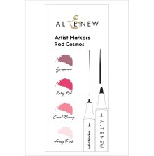 Altenew Artist Markers Set - Red Cosmos