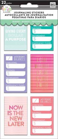 Me & My Big Ideas Happy Planner Medium Flip Stickers - Budget