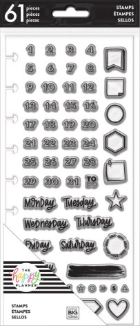 Me & My Big Ideas Clear Stamps - Days & Numbers