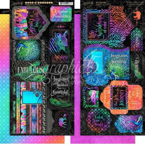 Graphic 45 Cardstock Die-Cuts 6X12 - Kaleidoscope