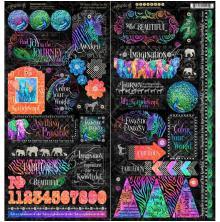 Graphic 45 Cardstock Stickers 12X12 - Kaleidoscope