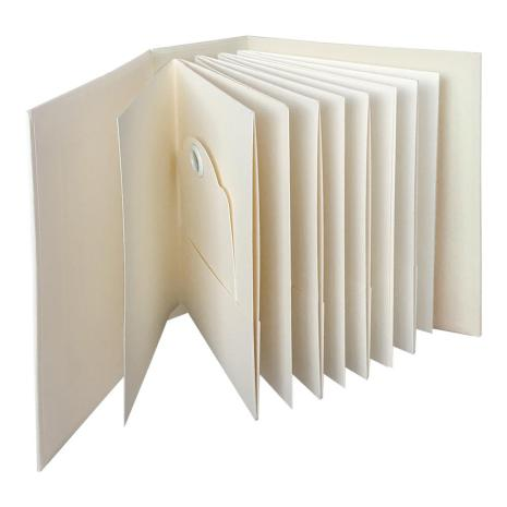 Graphic 45 Staples ATC Tag & Pocket Album 6X8X3 - Ivory Rectangle