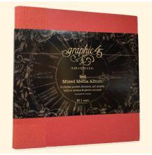 Graphic 45 Staples Mixed Media Album 8X8 - Red
