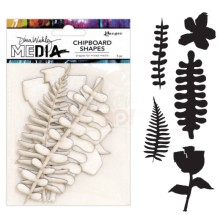 Dina Wakley Media Chipboard Shapes - Botanicals