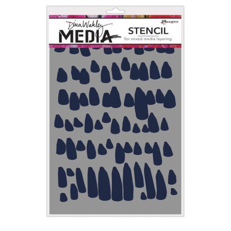 Dina Wakley Media Stencils 9X6 - Petals