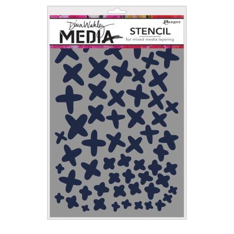 Dina Wakley Media Stencils 9X6 - Xs