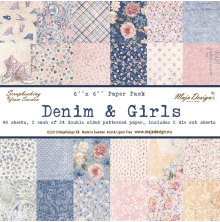 Maja Design 6x6 Paper Pack - Denim & Girls