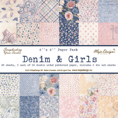 Maja Design 6x6 Paper Pack - Denim & Girls