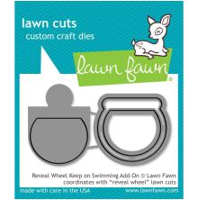 Lawn Fawn Custom Craft Die - Reveal Wheel Keep On Swimming Add-On