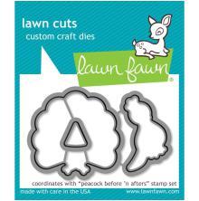 Lawn Fawn Custom Craft Die - Peacock Before n Afters