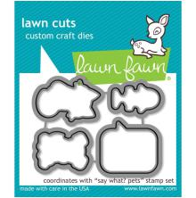 Lawn Fawn Custom Craft Die - Say What? Pets