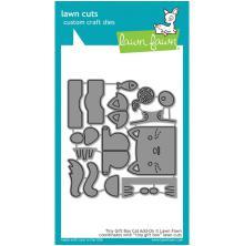 Lawn Fawn Custom Craft Die - Tiny Gift Box Cat Add-On