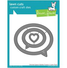 Lawn Fawn Custom Craft Die - Stitched Speech Bubble Frames