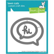 Lawn Fawn Custom Craft Die - Outside In Stitched Speech Bubbles