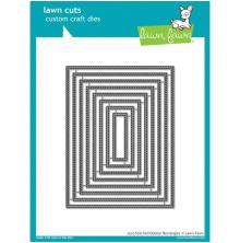 Lawn Fawn Custom Craft Die - Just Stiching Double Rectangles