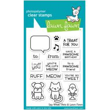 Lawn Fawn Clear Stamps 3X4 -Say What? Pets
