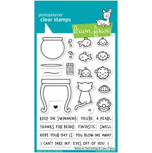 Lawn Fawn Clear Stamps 4X6 -Keep On Swimming