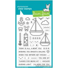 Lawn Fawn Clear Stamps 4X6 -Smooth Sailing