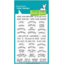 Lawn Fawn Clear Stamps 4X6 - Reveal Wheel Friends Family Sentiments