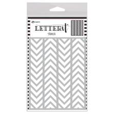 Ranger Letter It Background Stencil 4.75X6 - Alternating Chevrons