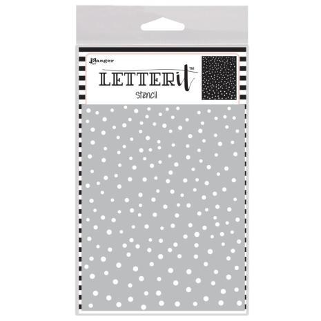 Ranger Letter It Background Stencil 4.75X6 - Dancing Dots