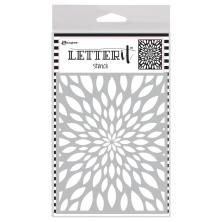 Ranger Letter It Background Stencil 4.75X6 - Flower Burst