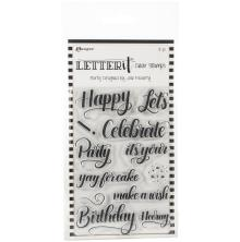 Ranger Letter It Clear Stamp Set 4X6 - Party